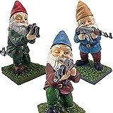 Rudies War Army Garden Gnome Statue, Patio Lawn Army Gnome Battle Statue (3 PCS Set)