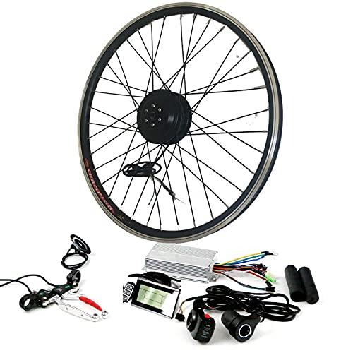 """Kit de conversión de bicicleta eléctrica a prueba de agua 36V 350W Kit de conversión de bicicleta eléctrica -Kit de motor eléctrico de bicicleta de tamaño de 20 """"/ 24"""" / 26 """"/ 28"""",FrontWheel-26INCH"""