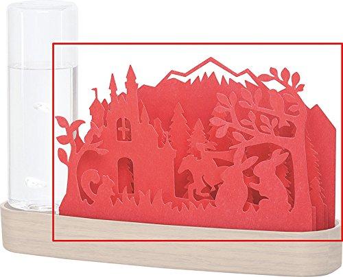 自然気化式加湿器 北欧の森 Forest交換用シート (Red)