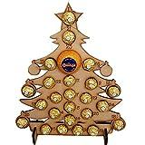Calendario de Adviento de Madera Vacaciones Kids Escritorio decoración de la Boda de Cuenta atrás del Chocolate Base for el hogar Fiesta de Navidad de Dibujos Animados Smooth (Color : A)