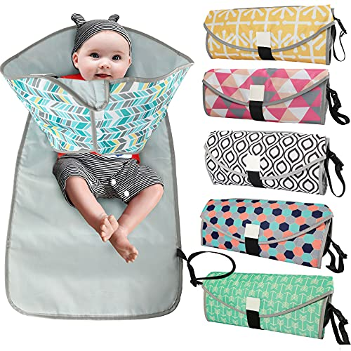 YWLINK Almohadilla Impermeable para el Cambio de pañales para orina, Almohadilla para Cambiar pañales para bebés Multi-Bolsillos Cambiador de pañales Almohadilla para Cambiar pañales portátil