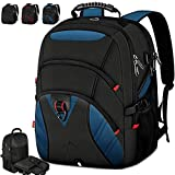 Laptop Backpack 18.4 Inch Extra Large Travel Backpack for Men Waterproof School College Backpack with USB Charging Port Business Computer Gaming Backpack for Women Men Blue