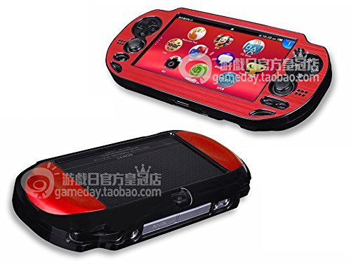 Szjay Metal Aluminum Metallic Protection Hard Case Cover for Playstation Ps Vita 1000 (Red)