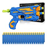 Duckura Blaster Guns for Kids, Toy Guns with 40 Hollow Foam Bullets for Nerf Party Supplies, Birthday Gift for Boys Girls Age 3 4 5 6 7 8 9 and Up