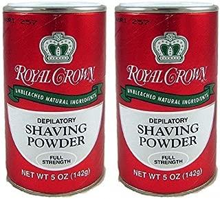 ROYAL CROWN Full Strength Shaving Powder with Lemon-Lime Fragrance 5oz by J. Strickland & Co