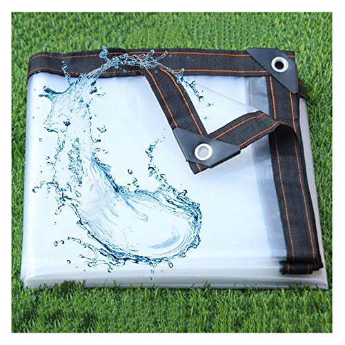 SCAHUN Lona Alquitranada Protección Lona De Protección Transparente Paño Impermeable Casa Parabrisas Paño De Plástico,White-5×5m