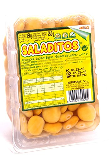 Saladitos - Weisse Lupinen eingelegt in Salzlake - Saladitos - Altramuces (350g netto)