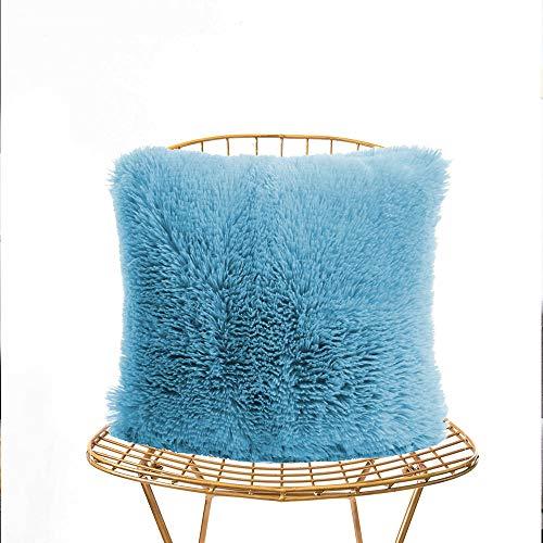 LAPOPNUT Faux Fur Pillow Cover, Home Decorative Super Soft Plush Mongolian...