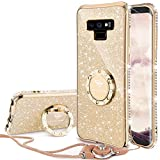 OCYCLONE Coque Galaxy Note 9, [1 Coque+ 1 lanière] Paillette Strass Brillante Bling Bling Glitter...