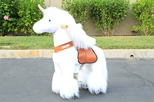 The ORIGINAL Ponycycle Pony Cycle Ride on walking horse without battery - Small White Unicorn 2-5 years old -  WondersShop