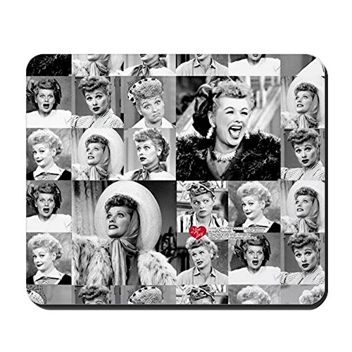 CafePress I Love Lucy Face Collage Non-Slip Rubber Mousepad, Gaming Mouse Pad