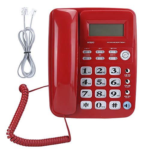 Teléfono con Cable, teléfono Fijo con Cable de identificac