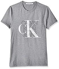 Calvin Klein CK Graphic Slim Stretch tee Camisa para Hombre Gris