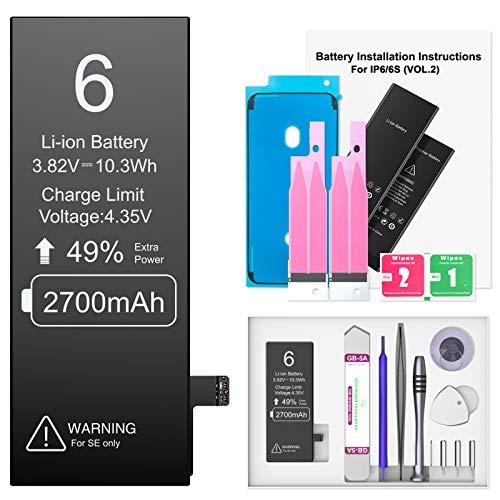 Ponoser Batería para iPhone 6 2700mAH, con 49% más de Capacidad Que...