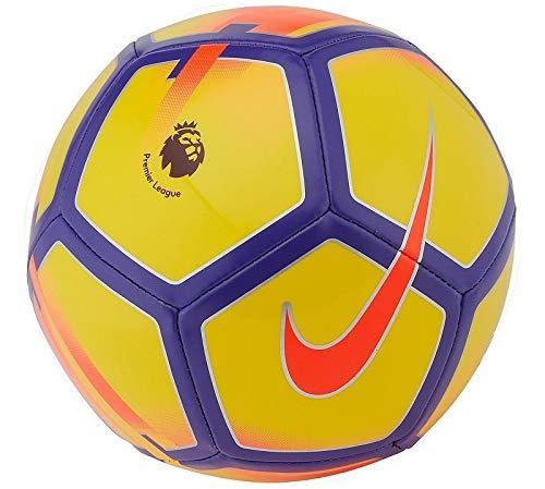 NIKE Pitch - Balón de fútbol de la Premier League 2017, tamaño 5 - Amarillo/Morado