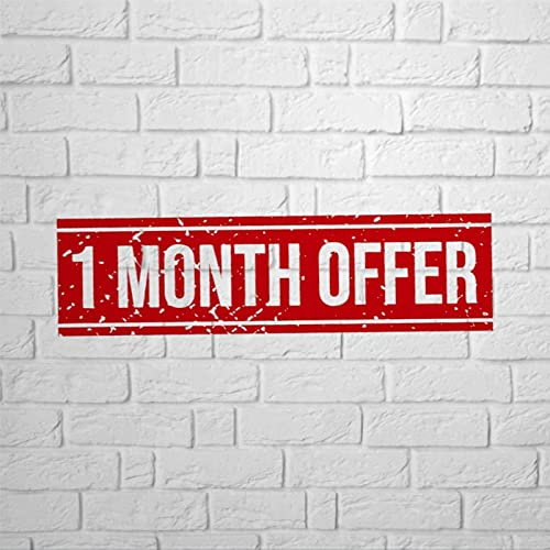 BYRON HOYLE 1 månads erbjudande metallskylt, vintage plåtskylt, gårdsskylt vägghängande konst, rustik väggdekor för hem garage kaffebar pub bondgård vardagsrum