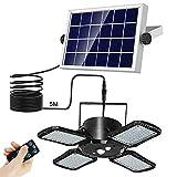 Annbrist Solarlampen für Außen, 128 LED Solarleuchten Aussen mit Bewegungsmelder, 1000 lm 3 Modus IP65 Wasserdichte, 120°Beleuchtungswinkel, Solar Wandleuchte für Garten Balkon Garage Zaun