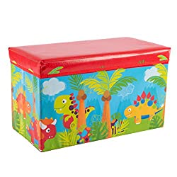9. Hey! Play! Collapsible Dinosaur Toy Box
