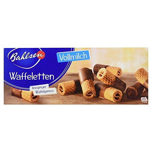 Bahlsen Waffeletten Vollmilch - 1er Pack - Hauchdünnes Waffelgebäck mit Vollmilchschokolade (1 x 100 g)
