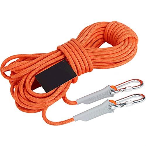 Cuerda fija 1 0M / 20M Cordón de escalada de roca profesional Accesorios de excursiones al aire libre Cuerda de 9.5mm Diámetro Cuerda de alta resistencia Cuerda de seguridad Ligero, duradero, de alta