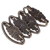 HEALLILY 4 Piezas de Perillas de Bronce Vintage Tiradores de Cajón Antiguo Tirador de Anillo Herrajes Decorativos para Muebles Armario Vestidor