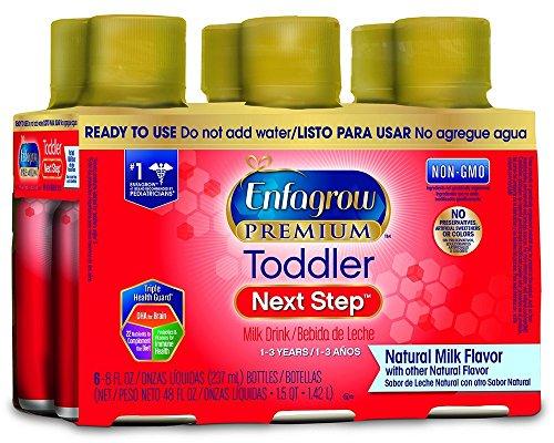 Enfagrow NeuroPro Omega 3 DHA Prebiotics Non-GMO (Former Toddler Next Step) Toddler Nutritional Milk Drink Natural Milk Flavor Ready to Feed Liquid 8 fl. oz. bottle (24 bottles) From Makers of Enfamil