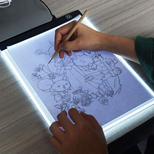 Tuzi Paulclub 5W 5V LED DREI Helligkeit dimmbar A4 Acryl kopieren Boards Anime Sketch Zeichnung Sketchpad QiuGe