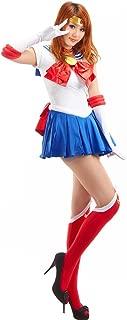 Women's Sailor Moon Tsukino Usagi Adult Cosplay Costume 7 Pcs Set