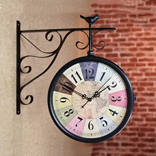LBBD 20 Pulgadas Relojes de Pared Estilo Europeo Creativo Mecanismo silencioso reemplazo Clásico Vintage Dormitorio Sala de Estar Cocina Decoración...