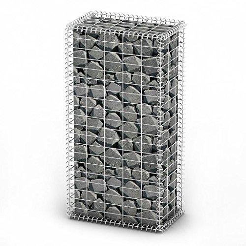 SENLUOWX Gabion Base pour mur 100 x 50 x 30 cm et Environ 10 x 5 cm (L x l)