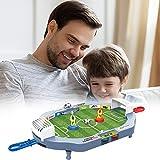 Orgrul Balón de fútbol portátil de escritorio, juguete deportivo de dos dedos para niños y adultos, juguete de futbolín, juego de mesa interactivo para sala de juegos
