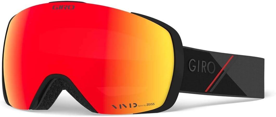 Giro Contact Snow Goggles Black/Red Sport Tech - Vivid Ember/Vivid Infrared