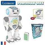 robot éducatif parlant programmable Inclus : 1 robot + 1 télécommande infrarouge + 1 manuel d'instructions + 9 disques en mousse. Parfait en jouet à offrir pour garçons et filles de 4 à 10 ans.