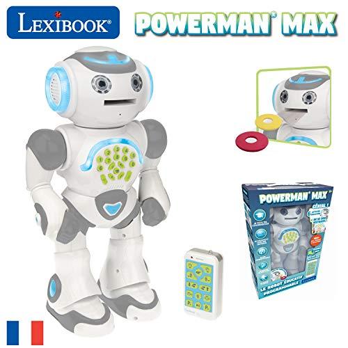Lexibook- Powerman Max-Robot édite et programme pour Jouer et Apprendre-Jouet pour l'habillement ...