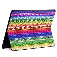 igsticker Surface Pro X 専用スキンシール サーフェス プロ エックス ノートブック ノートパソコン カバー ケース フィルム ステッカー アクセサリー 保護 004893 チェック・ボーダー 模様 カラフル