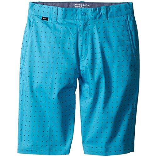 Nike Kids Print Shorts Little Kids/Big Kids Omega Blue/Vivid Orange/Dark Grey/Wolf Grey Boy's Shorts