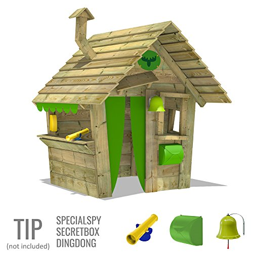 FATMOOSE-Wendy-House-HippoHouse-Heavy-XXL-Children-Playhouse-Garden-Playground-with-Wooden-roof-Chimney-and-Wide-Counter