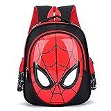 MYYLY Sac À Dos Spiderman Kid Gift Bag Sacs Préscolaires pour Enfants Apprendre Lire Cartable Home Coming Satchel Résistant l'eau Durable,Black-25X31X12CM