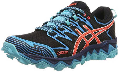ASICS Damen Gel-Fujitrabuco 7 G-TX Walking-Schuh, Black/Aquarium, 39.5 EU
