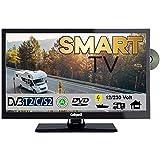 Gelhard GTV 2252 Smart TV 22 Zoll DVB/S/S2/T2/C, DVD, USB, 12V 230 Volt WLAN, 12 Volt, Internet, 12 Volt Fernseher