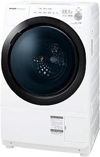 シャープ ドラム式 洗濯乾燥機 ヒーターセンサー乾燥 右開き(ヒンジ右) 洗濯7kg/乾燥3.5kg ホワイト系 幅640mm 奥行600mm DDインバーター搭載 2020年モデル ES-S7E-WR
