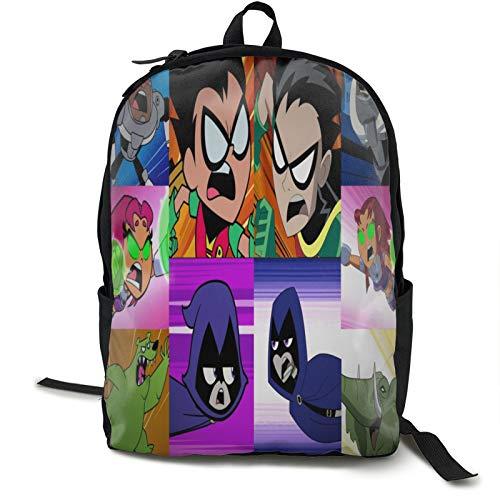 Teen Titans Go - Mochila de viaje para ordenador portátil, bolsa de trabajo ligera, mochila de negocios antirrobo, resistente al agua