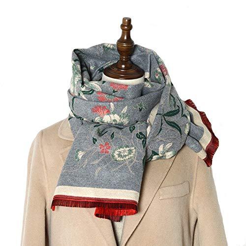 Xu Yuan Jia-Shop Moda Bufanda Chal Placa de Doble Cara Bufanda Bufanda Winter Winter Caliente Cashmere Shad Scarf Impresión Soft Fine Manta Bufanda Bufanda acogedora (Color : D)