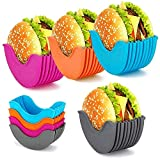 4 Pcs Burger Fixed Box, Burger Buddy Burger Fixed Box Dip Clip Hamburger Buns Shell, Reusable Burger...