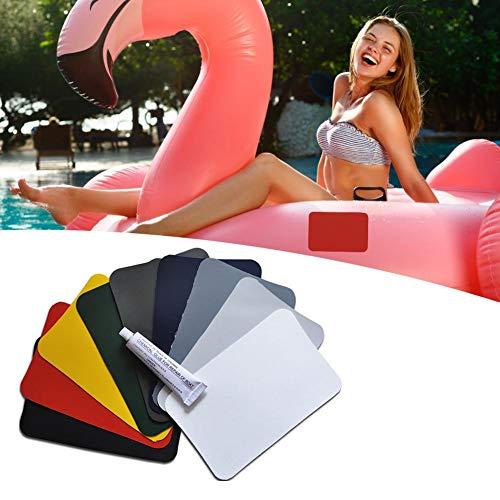Pool-Patch-Kleber, wasserfest, Set mit 4 Reparatur-Patches aus PVC für aufblasbaren Pool, Reparatur-Set für Reifenpannen, für aufblasbare Schwimmbecken
