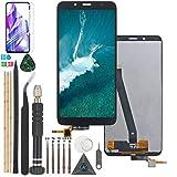 YWL-OU para Xiaomi Redmi 7A LCD Display componentes de Pantalla y una Serie de Herramientas multifunción (Negro)