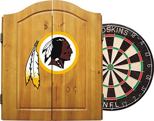 Imperial Offiziell Lizenziertes NFL Merchandise: Dart Cabinet Set mit Stahlspitze Borsten Dartscheibe und Darts, Racks/Futons, braun, One Size Fits All