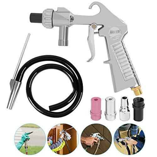 Best Buy! Air Sandblasting Gun Kit w/Siphon Feed Nozzles & Pipe Sandblaster Sand Blaster