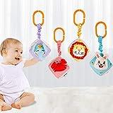 TUMAMA Babyspielzeug für 3 6 9 12 Monate Kinderwagen Spielzeug Kinderbett Zubehör Tier Hängen Rassel Kleinkindspielzeug Weiche rassel