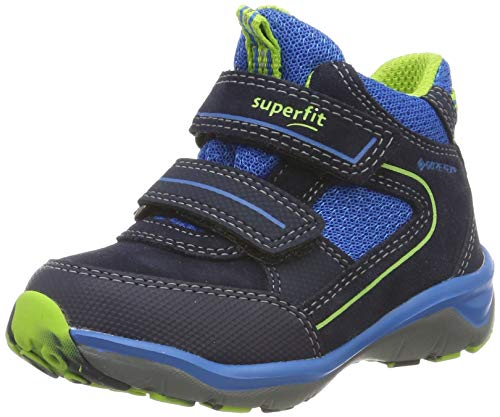 Superfit Jungen SPORT5 leicht gefütterte Gore-Tex Sneaker, Blau (Blau/Grün 80), 21 EU